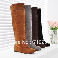 Free shipping 2013 winter snow boots fashion vintage high-leg scrub boots elevator women's knee-length boots casual boots 34-39