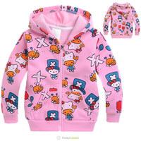 Hot selling Autumn-Winter children cartoon sweatshirts children hoodies clothing Fleece girls clothes kids outware free shipping