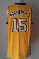 2014 Baskerball Jersey 15 Metta World Peace 30 Yellow Sewn Adult Men's Jersey Size:S-XXL Free Shipping