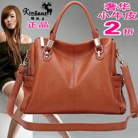 Fashion 2013 women's fashion genuine leather handbag first layer of cowhide women's one shoulder handbag big bags messenger bag