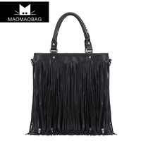Free shipping 2014 fashion  Duomaomao   vintage tassel   one shoulder tote  messenger      women's handbags