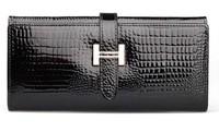 Korean women wallet Genuine Leather 2 color crocodile pattern wallet