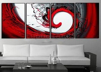 Wholesale cheap frame+Oil painting Abstract Modern Art Canvas Manual Home Deck Abstractionism / Free Shipping