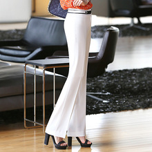 Karabearni spring and autumn work wear slim hip commercial suit white ol pants female trousers straight formal trousers(China (Mainland))
