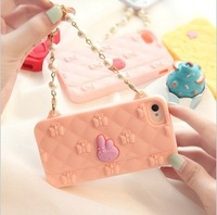Bow handbag I/5/S fruit shell with silicone sleeve I/4/S phone chain can be slung