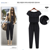 women trousers shirt dress hot models 2014 European and American fashion ladies flounced chiffon pants 8209