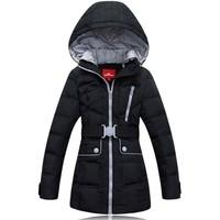 Snowimage casual female coat medium-long down slim thickening  =Yr5