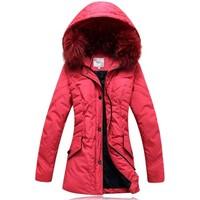 Plus size plus size female down coat medium-long plus size yemei red hot-selling  =Yr5