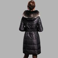 Luxury large fur collar plus size slim thickening long design down coat female  =Yr4