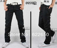 Brand wholesale Men's trousers,Men's Leisure&Casual pants, New Zipper Blue Straight Cotton Fashon Men Jeans Drop Shipping