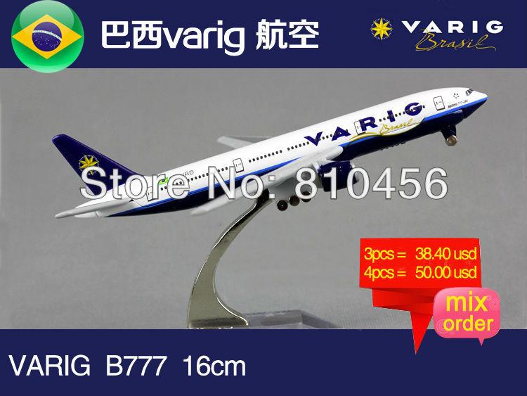 Free Shipping Brazil varig Airline B777 16cm metal airplane models aircraftmodel airbus prototype plane model kits(China (Mainland))