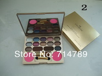 free shipping new makeup 14 colors eye shadow eyeshadow & 2 colors blush blusher with brush(8PCS/LOT)