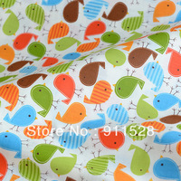 100% cotton Twill Cute Birds Printed children's bedding fabric - baby fabric wholesale 160cm wide