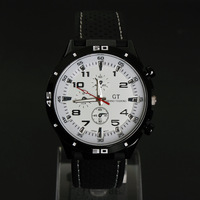 2013 NEW F1 Speed Racer Men Sport Watch GT Military Watches Japan PC Movement Wristwatch white Clock Free Drop Shipping WTH04