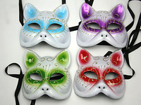 Colored drawing masks fox mask cat mask halloween mask half face mask
