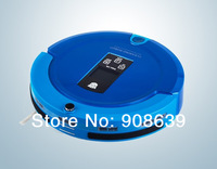 Free shipping 2013 New Coming Shining Logo 4 IN 1 Robot Vacuum Cleaner With Clean Time Set,Auto Recharged, LCD,UV lights
