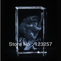 New! Creative Wholesale 5*5*8cm 3D laser engraved Crystal image animal series Koala bear souvenir gift home decoration