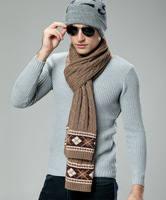 2013 male winter scarf quality wool scarf male classic commercial muffler scarf gift