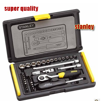 Free shipping Stanley 35pcs vehicle repair kit mechanics tools of metal socket wrench set cars accessory tools(China (Mainland))