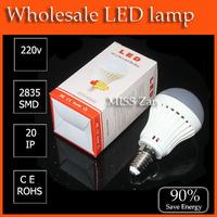 1pcs High brightness LED Bulb Lamp E14 2835SMD  7w  AC220V 230V 240V Cold white/warm white Free shipping 5pcs
