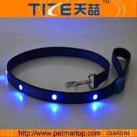 Free shipping New LED dog leash TZ-PET8002 bright light LED dog leash