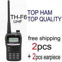 kendio thf6 th-f6 walkie talkie pair uhf portable ham radio transceiver radio station with free earpiece for baofeng radio uv 5r
