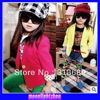 Baby girls coat kids children candy suit autumn long sleeve outwear girls boy Coat 0905 B lca