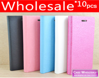 10 pieces/lot 5 Colors Ultra Slim Flip Wallet PU Leather Case Cover For Samsung Galaxy Duos i8262D GT-i8262D mobile phone case