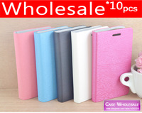 10 pieces/lot 5 Colors Ultra Slim Flip Wallet PU Leather Case Cover For Samsung Galaxy Trend II Duos S7572 mobile phone case