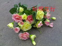 Artificial flower artificial flower home decoration 21 headband colorpoint decorative rose pattern(China (Mainland))