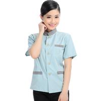 20sets [Top-pant] Female short-sleeve summer  summer work wear  Housekeeper suit full set free ship