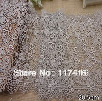 new style 20cm light silver water soluble lace fabric