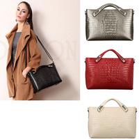 Fashion celebrity leather Shoulder Handbag high quality Genuine Leather bag Crocodile pattern Women's Tote Handbag
