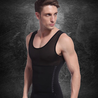 Male drawing abdomen shaper body shaping vest slimming underwear body shaping top breathable mesh