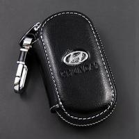 Day window key wallet cover keyrings for HYUNDAI key bags Remote car key case keychain genuine leather car Free shipping