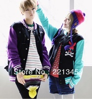 2014!!i lovers rabbit lovers scampish baseball uniform sweatshirt outerwear