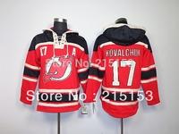 Free Shipping ICE Hockey Hoodies New Jersey Devils Ilya Kovalchuk 17 ,Kovalchuk 17 Hoody Red Stitched Men's Hooded Sweaters