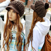 Fashion Women Girls Winter Warm Crochet Knitted Ski Beanie Knit Peaked Hat Cap[060184]