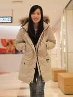 Free shipping! Canada thick warm down jacket, down jacket women, long down jacket women