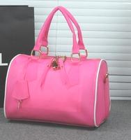 3 colors solid handbags 2014 women leather messengers bag clutches shoulder bag lady beach bag satchel Retail and Wholesale