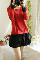 2013 women's o-neck autumn long-sleeve autumn and winter elegant laciness one-piece dress sweep
