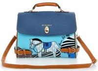 2 colors solid handbags designers brand 2014 women leather messengers bag lady shoulder vintage bag  Retail and Wholesale