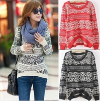 Free Shipping 2014 New Fashion cardigan Women Long Loose Sweater Chinese Style Pullover Women's sweat Knitted Sweater Winter