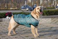 Free shipping large dog clothes dog summer clothing Golden Retriever dog striped T-shirt