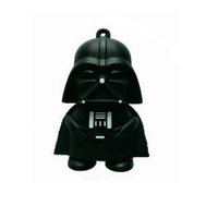Free Shipping Star War Dark Darth Vader USB Flash Drive 1GB 2GB 4GB 8GB 16GB 32GB Memory stick Pen Drive 5pcs/lot