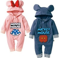 Lovely baby unisex romper/Mickey&Minnie baby clothes/Autumn hot style