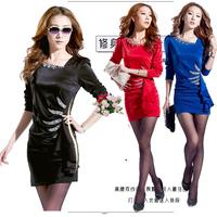 2013 autumn and winter slim hip one-piece sexy dress ol elegant all-match basic skirt dress