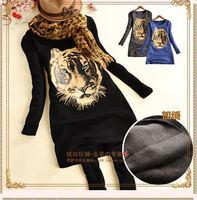 East Fashion Women New Tops 2013 harajuku style long sleeve tiger printed casual t shirts free shipping