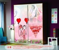 Cartoon Lover red wardrobe stickers/ sliding door stickers/window films aesthetic a030