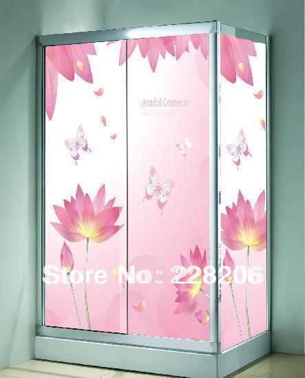 Lotus adesivos de guarda-roupa porta de correr de vidro adesivos window films grátis frete tamanho pode ser personalizado(China (Mainland))